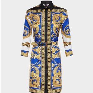 Versace Signature Pillow Talk Silk Shirt Dress
